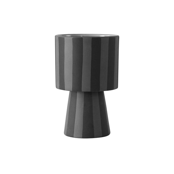 OYOY Living Design - OYOY LIVING Toppu Pot - Small Vase 203 Grey / Anthracite