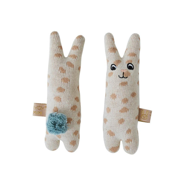 OYOY Living Design - OYOY MINI Baby Rattle - Rabbit Soft Toys 401 Nude ?id=13269793013840