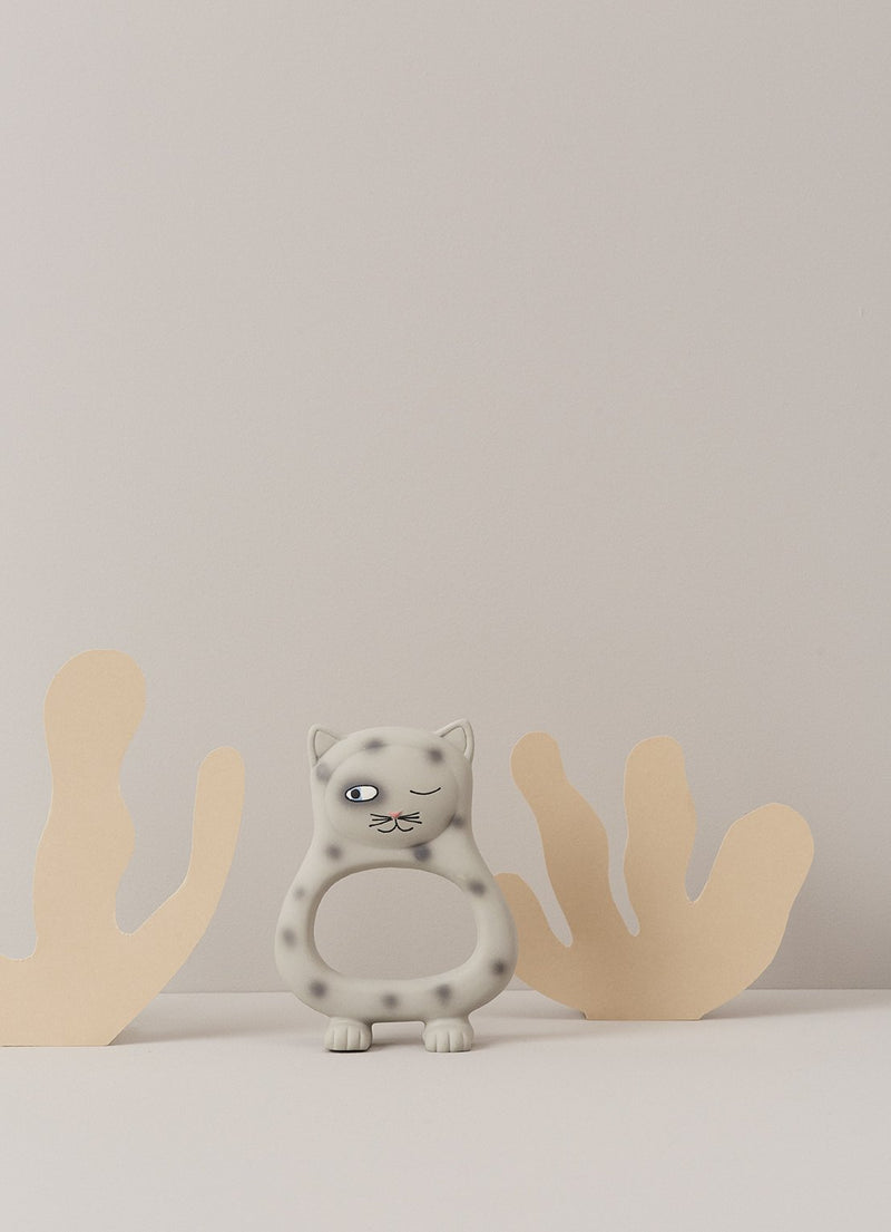 OYOY Living Design - OYOY MINI Benny Cat Baby Teether Rubber Toy 203 Grey