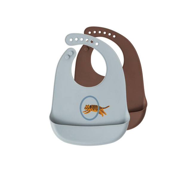 OYOY Living Design - OYOY MINI Bib Tiger, Set of 2 Apron 603 Pale Blue