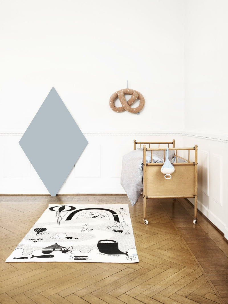 OYOY Living Design - OYOY MINI Mr. Megalodon Adventure Rug Rug 102 Offwhite / Black