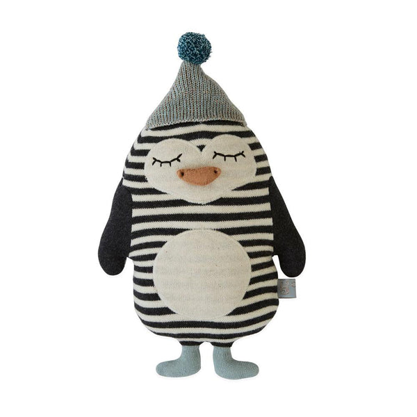 OYOY Living Design - OYOY MINI Darling Cushion - Baby Bob Penguin Soft Toys 102 Offwhite / Black