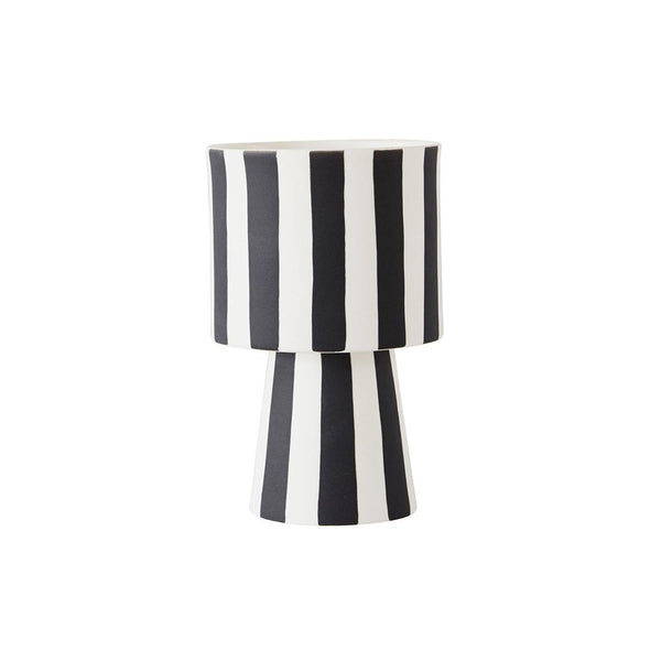 OYOY Living Design - OYOY LIVING Toppu Pot - Small Vase 101 White / Black