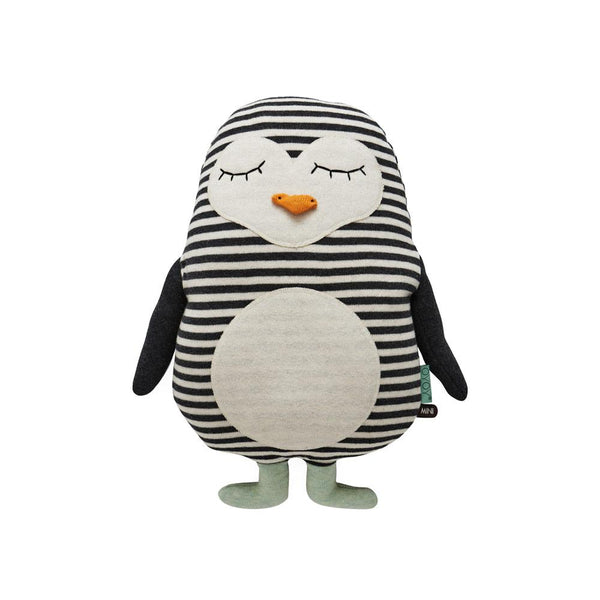 OYOY Living Design - OYOY MINI Penguin Pingo Cushion Soft Toys 101 White / Black