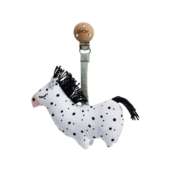 OYOY Living Design - OYOY MINI Baby Carrier Clip - Horse Accessories - Kids 101 White / Black