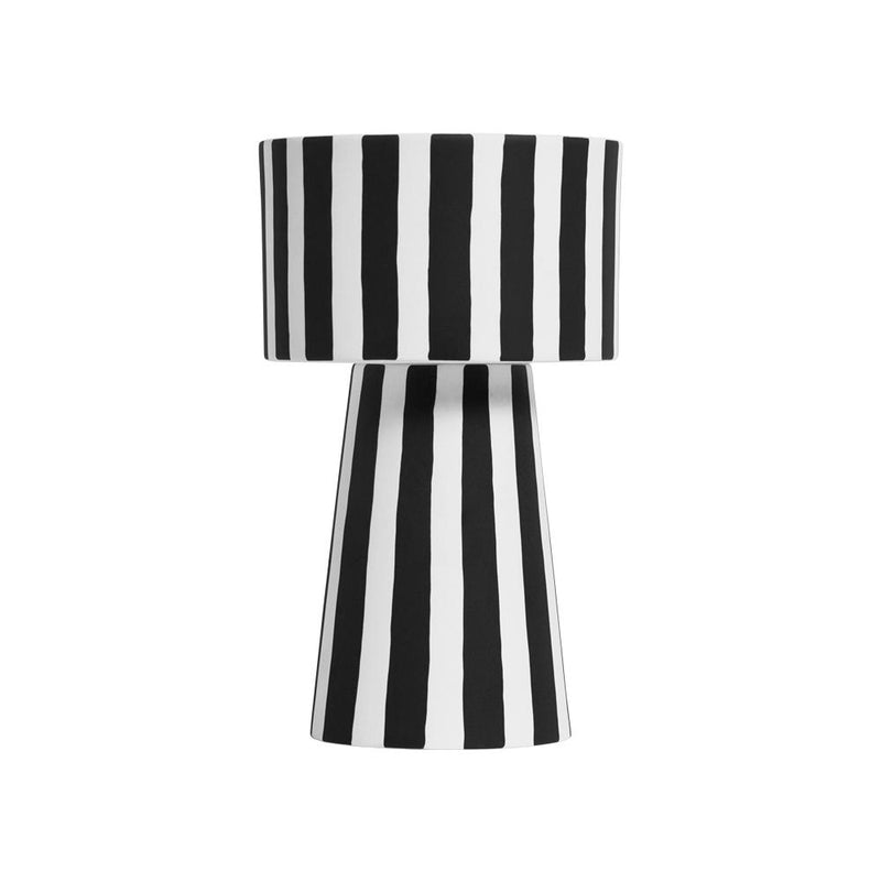 OYOY Living Design - OYOY LIVING Toppu Pot - Large Vase 101 White / Black
