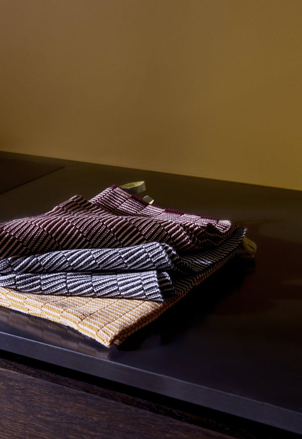 OYOY Living Design - OYOY LIVING Stringa Dishcloth Dish Cloth & Mini Towel 406 Aubergine/Rose - Pale Blue/Camel