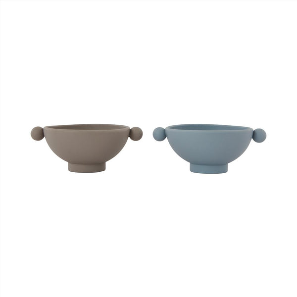 Tiny Inka Bowl - Set of 2 - Dusty Blue / Clay