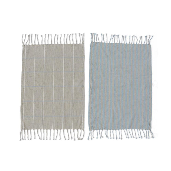 OYOY Living Design - OYOY LIVING Gobi Tea Towel - 2 Pcs/Pack Tea Towel 605 Tourmaline / Grey