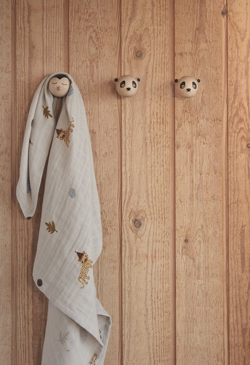 OYOY Living Design - OYOY MINI Mini Hook - Panda Hook 901 Nature ?id=15337041035344