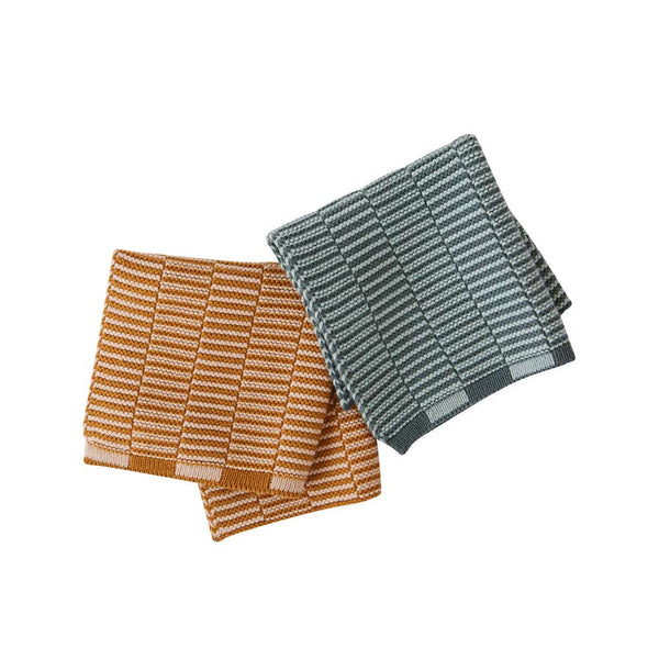 OYOY Living Design - OYOY LIVING Stringa Dishcloth - 2 Pcs/Set Dish Cloth & Mini Towel 307 Caramel / Minty