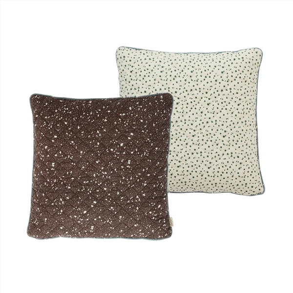 OYOY Living Design - OYOY LIVING Cushion Quilted Aya Cushion 301 Brown / Offwhite