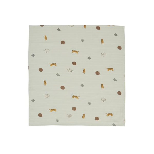 OYOY Living Design - OYOY MINI Muslin Square - Tiger - 3 Pcs/Pack Muslin 701 Green