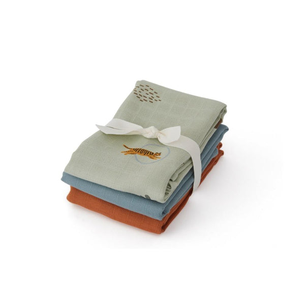 OYOY Living Design - OYOY MINI Muslin Square - Tiger - 3 Pcs/Pack Muslin 701 Green ?id=11597590167632