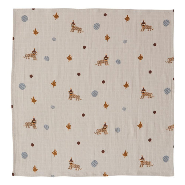 OYOY Living Design - OYOY MINI Muslin Square - Leopard - 3 Pcs/Pack Muslin 306 Clay