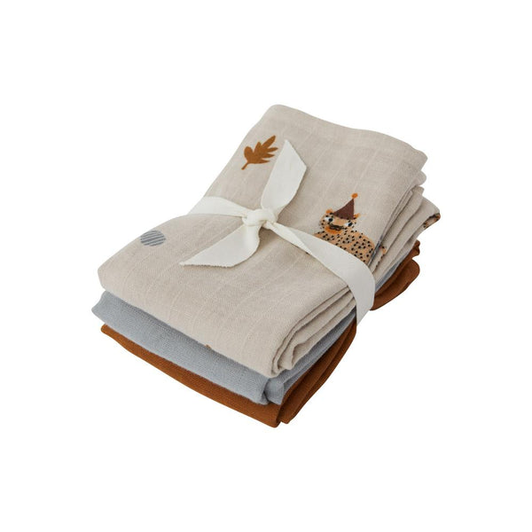 OYOY Living Design - OYOY MINI Muslin Square - Leopard - 3 Pcs/Pack Muslin 306 Clay ?id=14458660847696