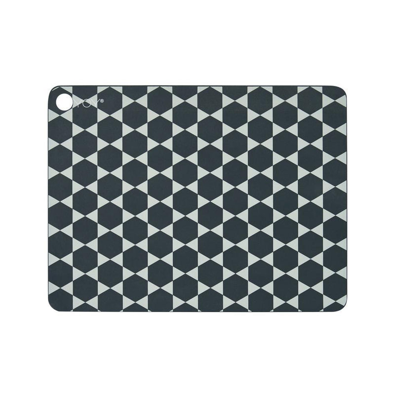 OYOY Living Design - OYOY LIVING Placemat Hexagon - 2 Pcs/Pack Placemat 204 Dark Grey