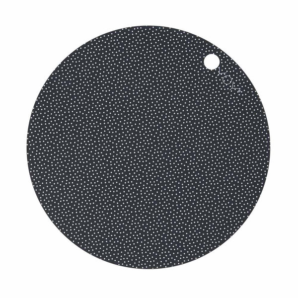 OYOY Living Design - OYOY LIVING Placemat Dot - 2 Pcs/Pack Placemat 204 Dark Grey