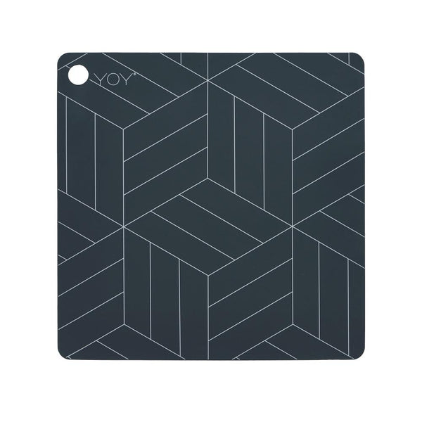 OYOY Living Design - OYOY LIVING Placemat Mado - 2 Pcs/Pack Placemat 204 Dark Grey