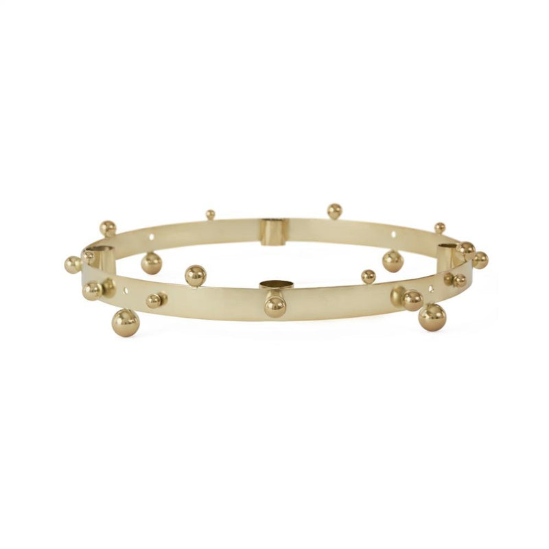 OYOY Living Design - OYOY LIVING Pearl Advent Candleholder Candleholder 904 Brass