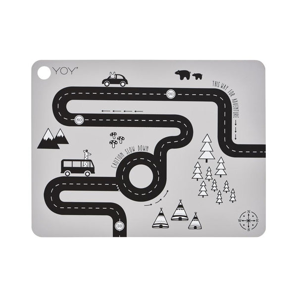 OYOY Living Design - OYOY MINI Placemat Adventure Placemat 202 Light Grey ?id=13270539010128