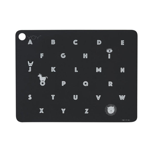 OYOY Living Design - OYOY MINI Placemat Alphabet Placemat 201 Anthracite