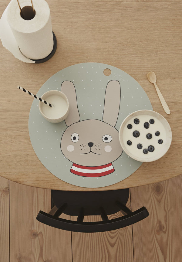 OYOY Living Design - OYOY MINI Placemat Rabbit Placemat 705 Minty ?id=13270681878608