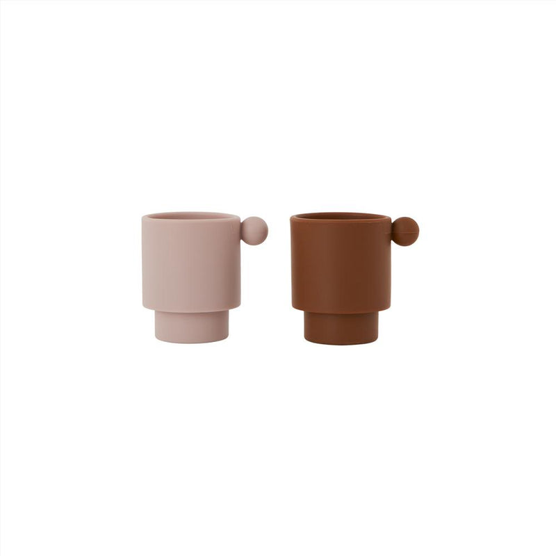 OYOY Living Design - OYOY MINI Tiny Inka Cup - Set of 2 Dining Ware 307 Caramel / Rose