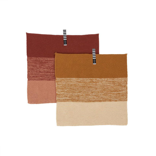 OYOY Living Design - OYOY LIVING Dish Cloth Niji - 2 Pcs/Set Dish Cloth & Mini Towel 308 Dark Caramel / Rubber ?id=16113933451344