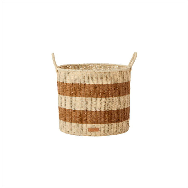 OYOY LIVING Storage Baskets Cylinder - Small Storage 307 Caramel ?id=28096537493584