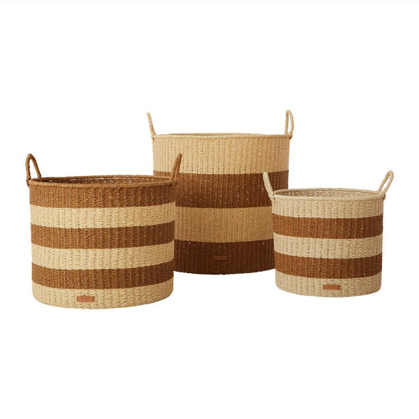 OYOY Living Design - OYOY LIVING Storage Baskets Cylinder, Set of 3 Storage 307 Caramel ?id=16191915163728
