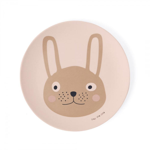 OYOY MINI Tableware Set - Rabbit Kids Tableware 402 Rose