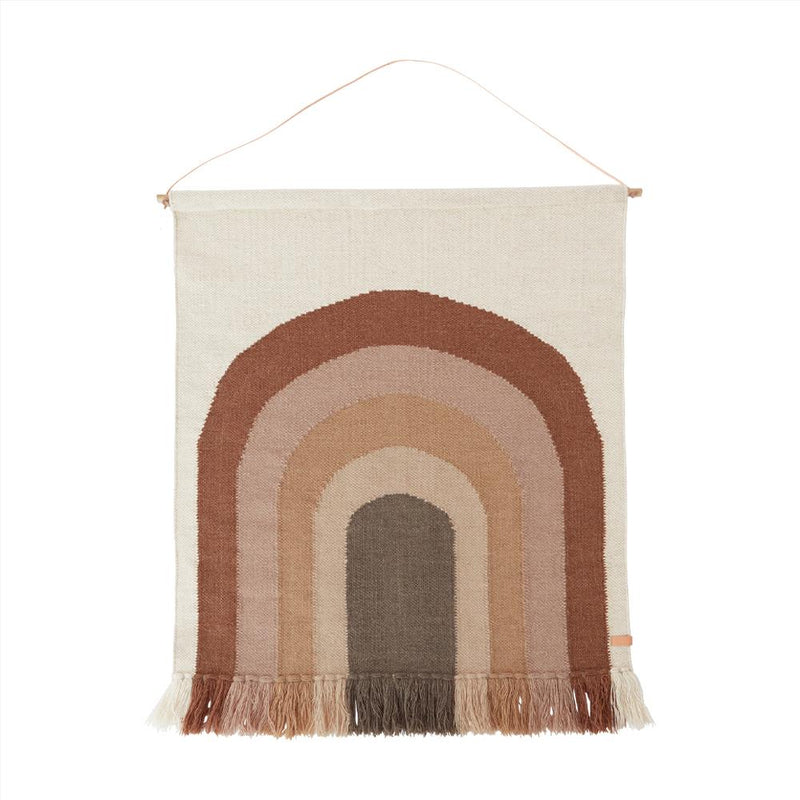 OYOY Living Design - OYOY MINI Wall Rug Follow the Rainbow Wallhanger 309 Choko
