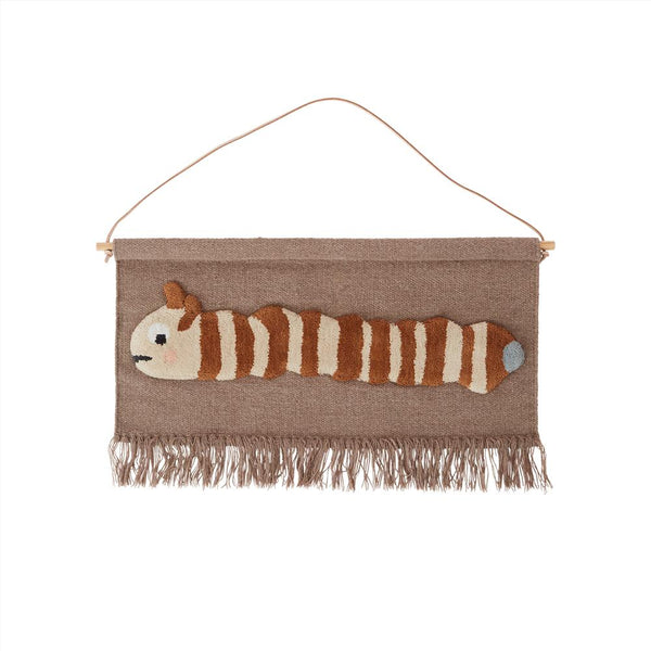 OYOY Living Design - OYOY MINI Wallhanger Leo Larva Wallhanger 404 Dark Powder ?id=16169699246160