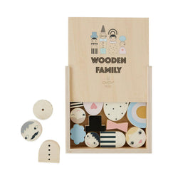 OYOY Living Design - OYOY MINI Wooden Family Bricks Wooden Toy 901 Nature
