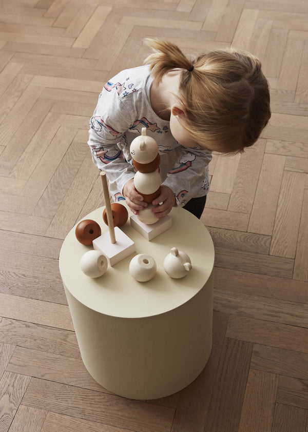 OYOY Living Design - OYOY MINI Wooden Stacking Lala Wooden Toy 901 Nature