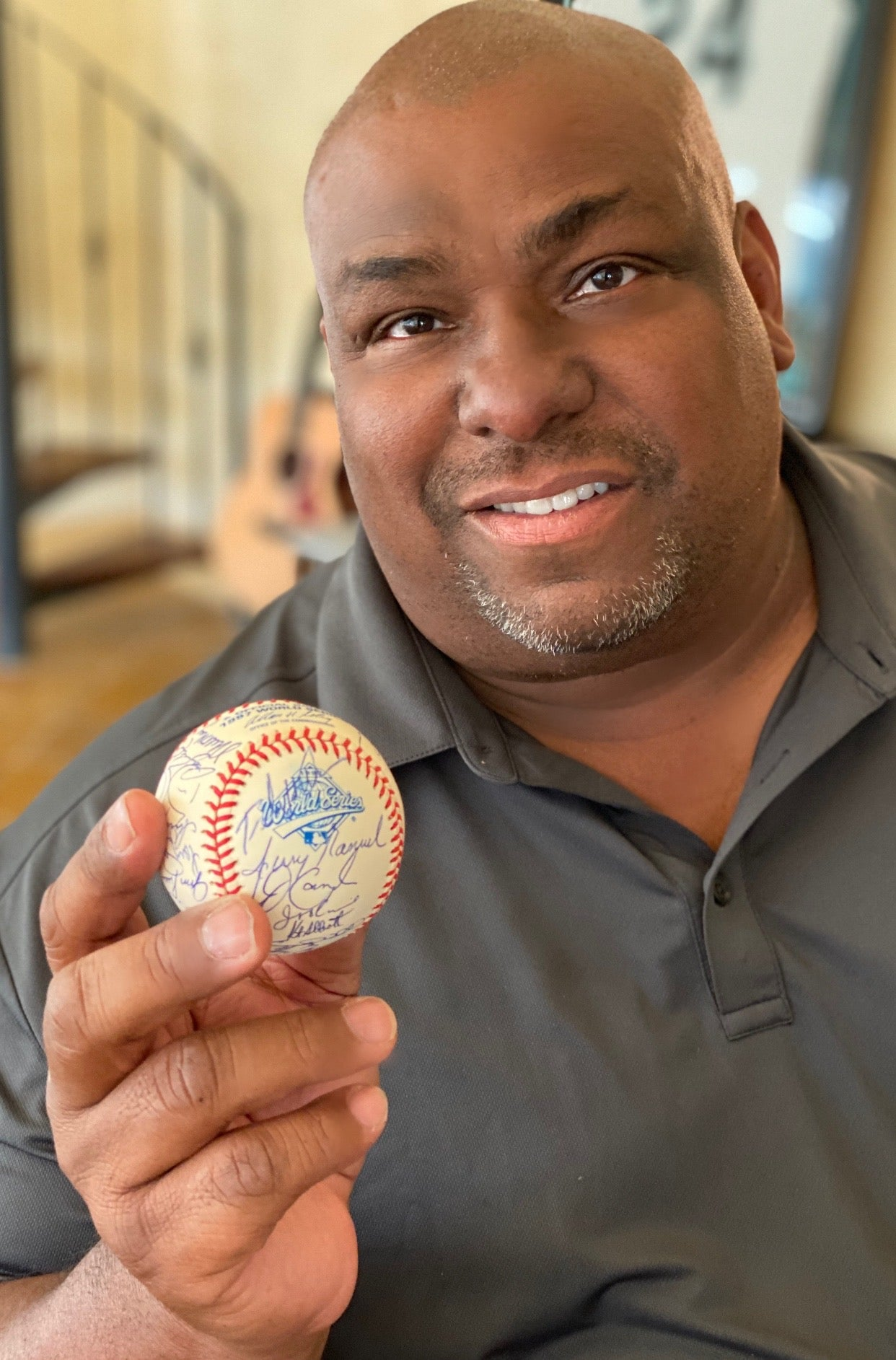 Official 1997 World Series Autographed Baseball from Bobby Bonilla