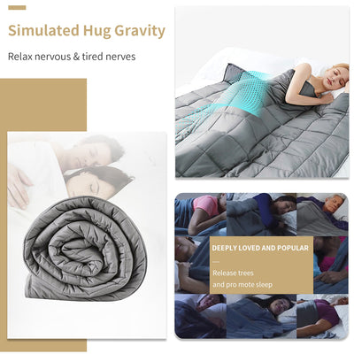Adult Weighted Heavy Blanket with Glass Beads - 15/20 lbs.