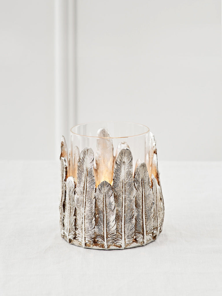 Feathers Hurricane Tealight Holder Candle Holder BRISSI