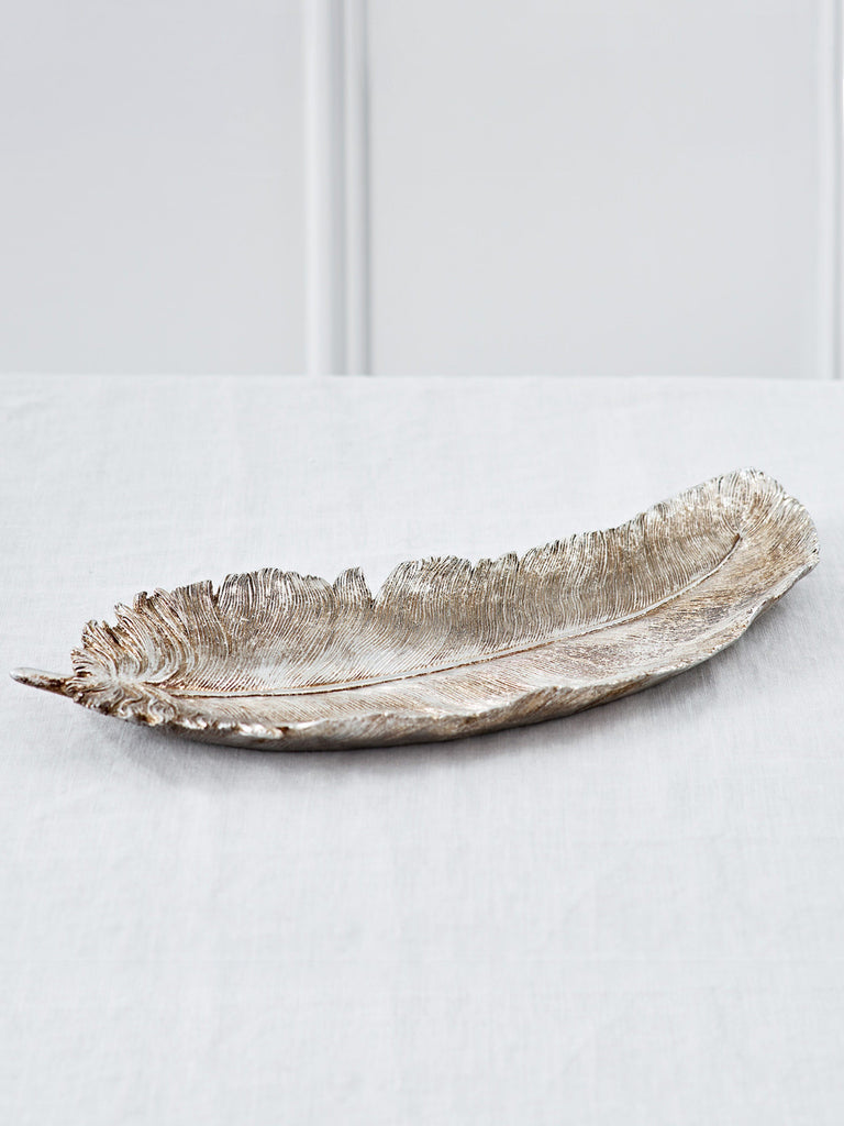 Feather Platter Gold Platters BRISSI