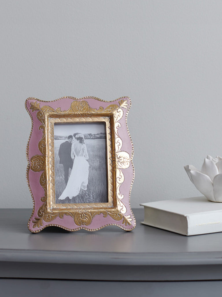 Anaya Pink & Gold Photo Frame - 4x6 inches Picture Frames BRISSI