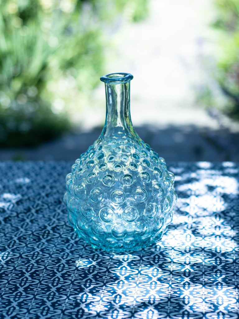 Bubbles Light Blue Glass Vase BRISSI