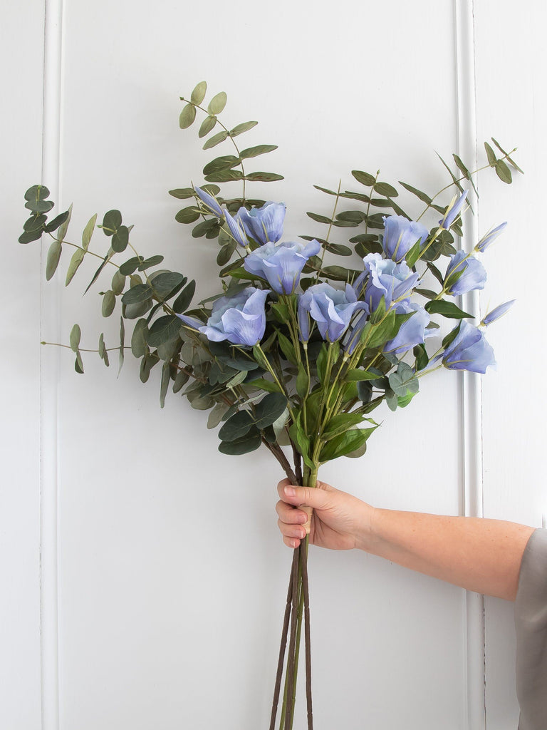 Pale Blue Lisianthus and Eucalyptus bunch Flowers & Foliage BRISSI