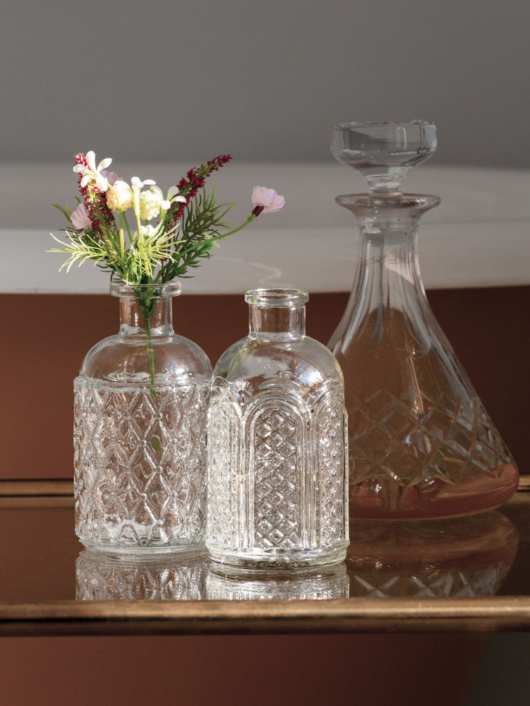 Bottle Vases Etched- Set of 2 BRISSI