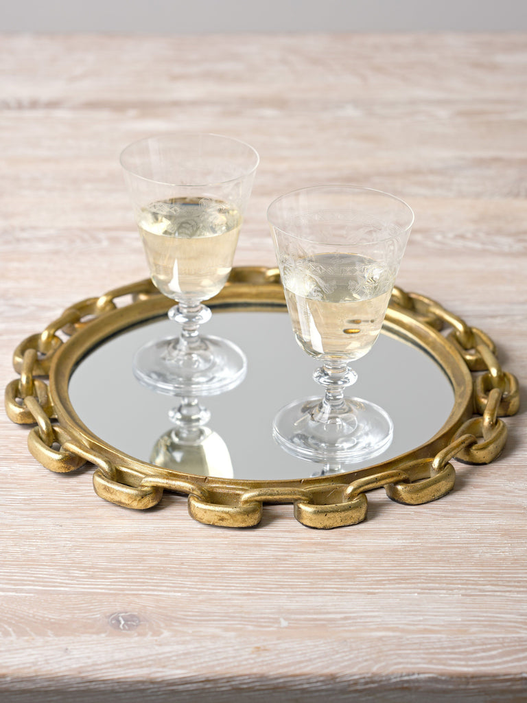 Gemini Mirrored Tray Trays BRISSI