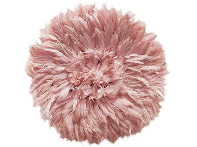 Juju Feather Hat Soft Pink - 50cm | 20""