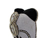 Bamileke Mask - Beads And Cowrie Shells - White