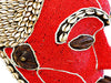 BAMILEKE MASK S- BEADS AND COWRIE SHELL