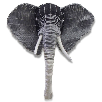 Black And Grey Rope Elephant Head