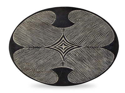 African Bamileke Wood Shield 4